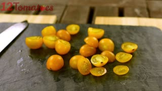 How to quickly cut cherry tomatoes