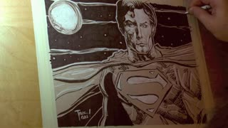 Time lapse: Portait of Christopher Reeve as the Man of Steel - Video