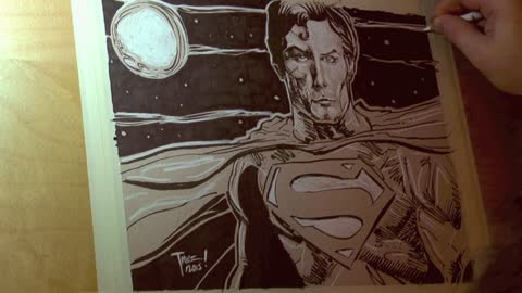 Time lapse: Portait of Christopher Reeve as the Man of Steel