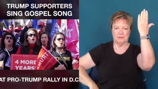 Trump supporters burst out into song