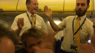 Accordion to the Flight Attendant - Video