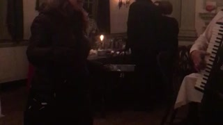 Phila Eagles fight song at historic City Tavern  - Video