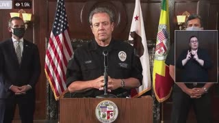 LAPD Chief: statement about rioters