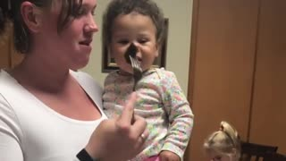 Prankster mom totally fools baby with chocolate cake