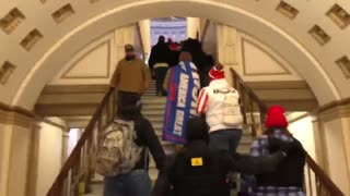 THE TRUTH - Rally-goers walk into the Capitol - Capitol Police open the doors.