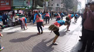 Peruan and Bolivian cultural dance musin in Santiago, Chile