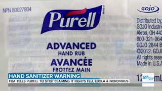 FDA warns Purell about making claims about diseases