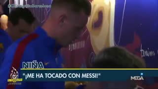 "VIDEO: The emotion of a girl ""I touched Messi"". - Video"