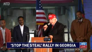 Lin Wood Sidney Powell Stop The Steal Rally in Georgia