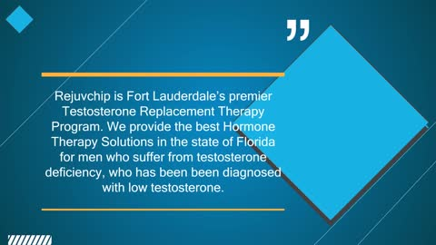 Hormone Replacement Therapy Florida
