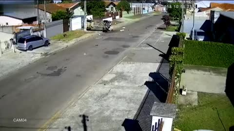 Brutal accident in street
