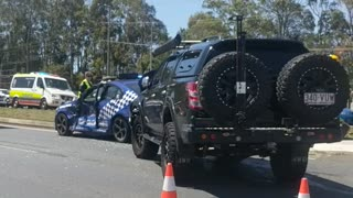 Police Cruiser T-Boned in Australia