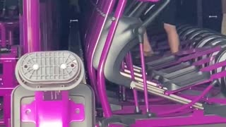 Man Working Out in Planet Fitness During Minneapolis Riot