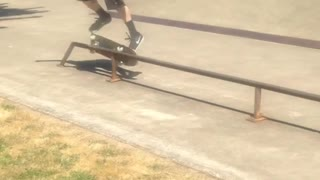 Collab copyright protection - smudged camera rail skate slide fail - Video