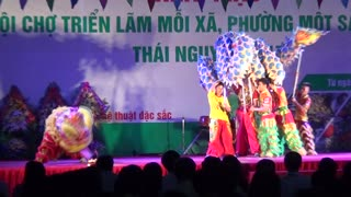 Traditional dragon dancing in Vietnam - Video