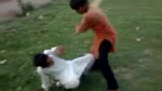 little boys fight  - Video