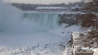 Extreme temperatures partially freeze Niagara Falls - Video