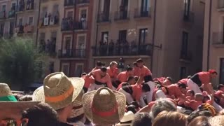 Collab copyright protection - spain human tower fall fail - Video