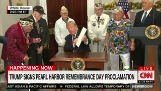 Pearl Harbor Vets With Trump - Video