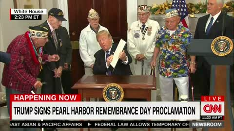 Pearl Harbor Vets With Trump