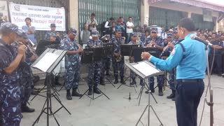 Nepalese police band perform Gangnam Style - Video