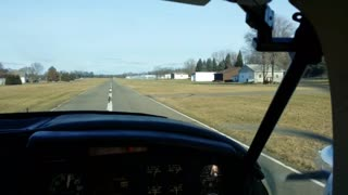 Departing Runway 4 Brighton Airport Michigan Piper Aztec