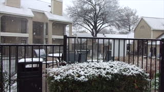 Beautiful Snow in Fort Worth, Texas, USA, on Sunday, January 10, 2021