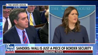 CNN's Acosta Says America Isn't In Favor of Border Wall — Sanders Delivers Smackdown With Crosshairs Right On Democrats - Video