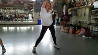 27 Weeks Pregnant Mom Dances with Baby #3 - Video