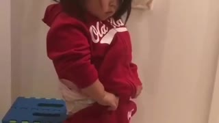 Adorable Baby Girl Can Get Dressed By Herself