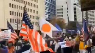 Protest against the US Election Fraud in Japan (2)