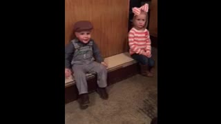 Little Boy Tries To Kiss Little Girl But She Rejects Him - Video