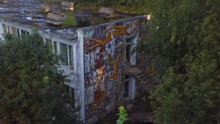Drone shows abandoned soviet era young pioneer camp - Video