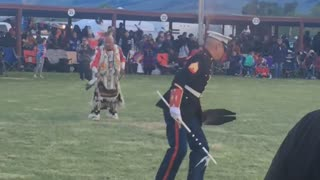 Marine Performs Dance with Native Americans