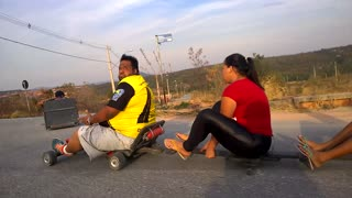 Downhill Roller-carting - Video