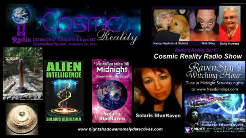 """""""COSMIC REALITY"""" 2/23/21 - Solaris BlueRaven Electronic Intrusions to ET Intelligence"""