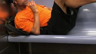 Make yourself at home dude man in orange shirt  - Video