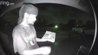 Ring doorbell licker caught on camera