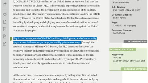 Addressing the Threat From Securities Investments That Finance Communist Chinese Military Companies