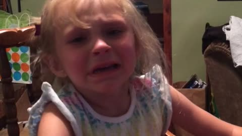"""Little Girl Cries Because Her Mom Is Trying To Feed Her """"Grown Up Food"""""""
