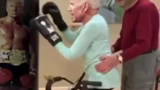 Joe Biden training for the election, with his boss...
