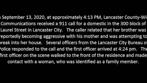 Lancaster, PA releases video of OIS where armed man charged at officer
