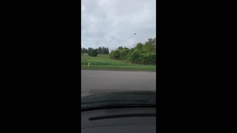 Apache Helicopters Land At Airport