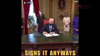 Biden-I don't Know What I'm Signing SIGNS IT ANYWAYS!