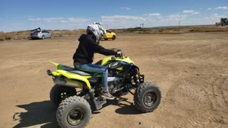 Learning how to ride an atv
