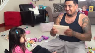 Dad Tries To Break A Piece Of Wood With His Head - Video