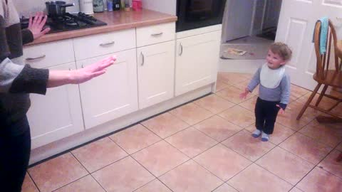 Adorable toddler has a lot to say!