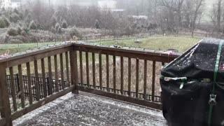 It's snowing in Royersford, PA, Wednesday, December 9, 2020