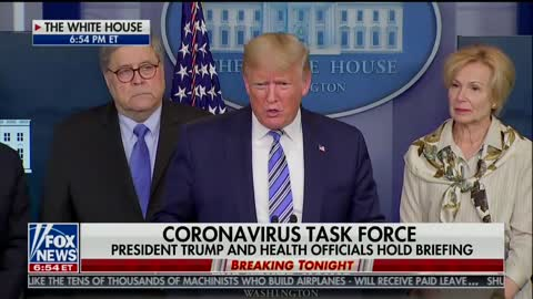 Trump talks about coronavirus and need to get country back to work