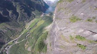 Wingsuit proximity flying over amazing Norway - Video